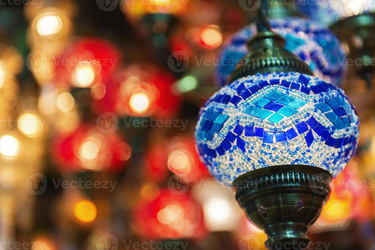 Islamic arabesque and middle eastern lights photo