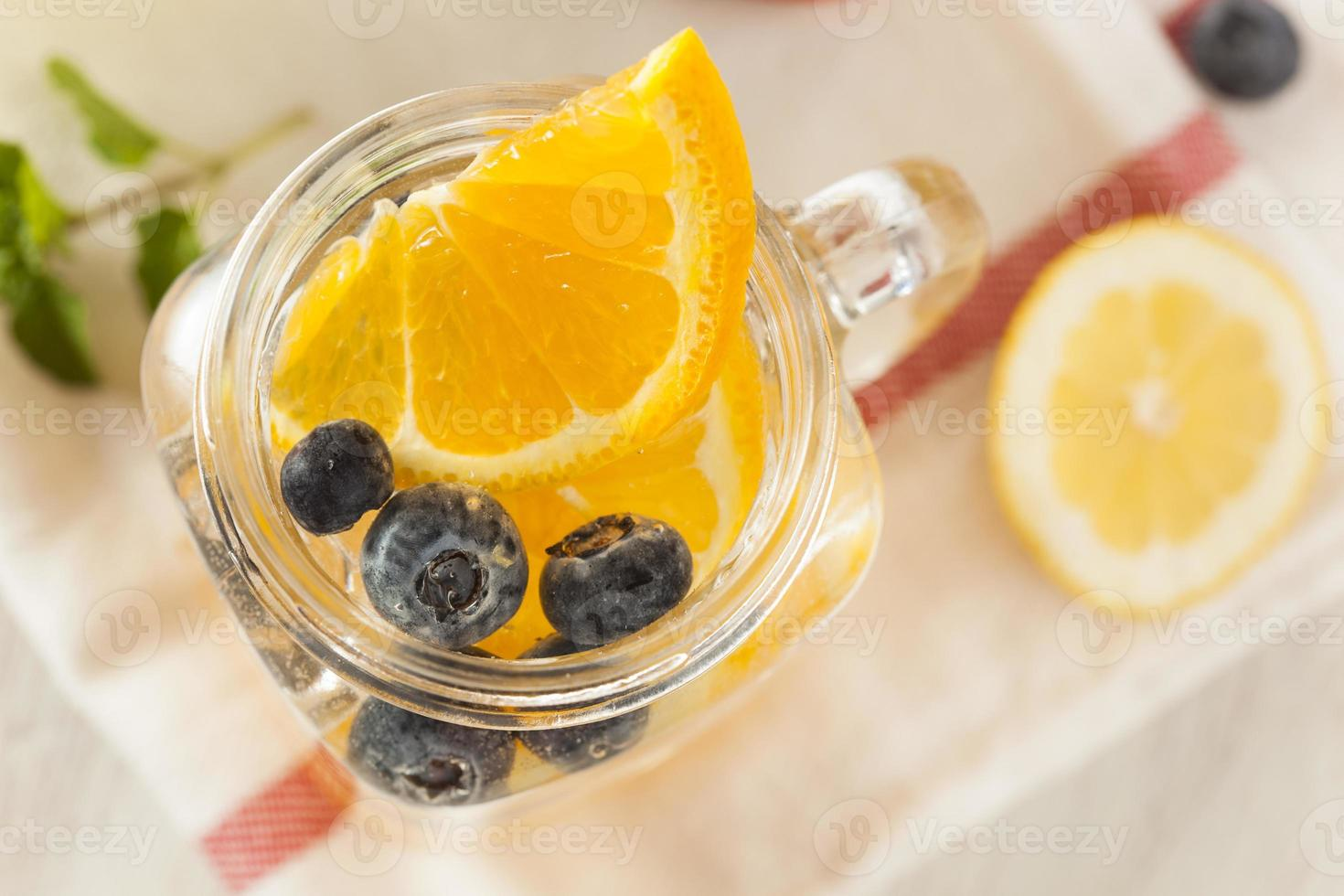 Healthy Spa Water with Fruit photo