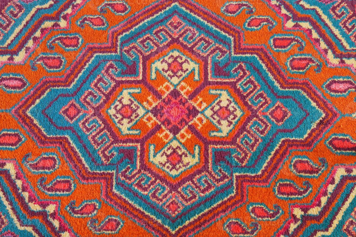 adorno de alfombra asiática central foto