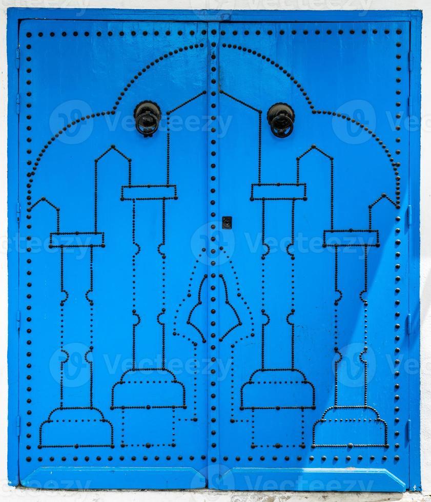 Blue door as symbol of Sidi Bou Said photo
