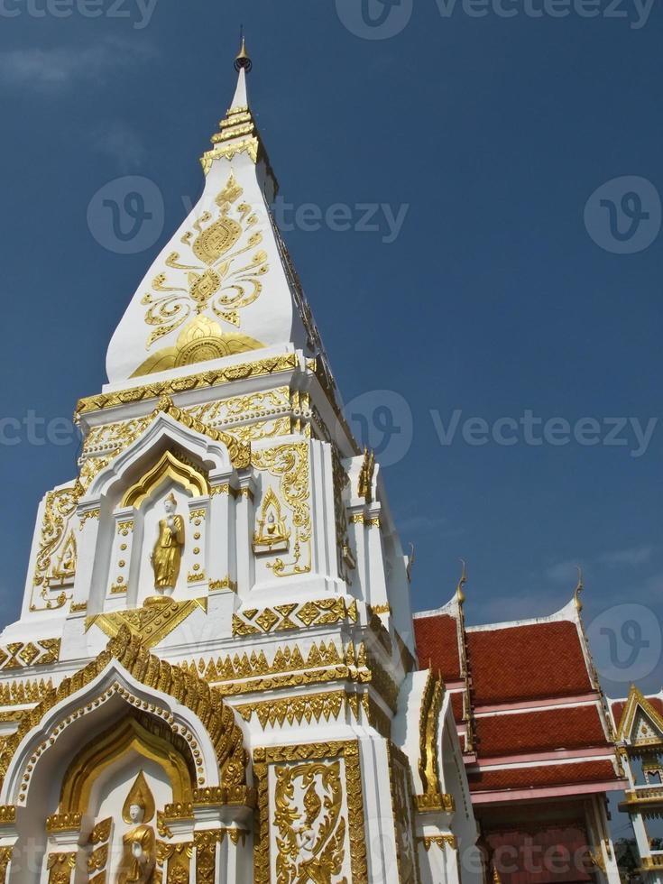 Phra that Prasit  pagoda in Nakhon Phanom, Thailand photo