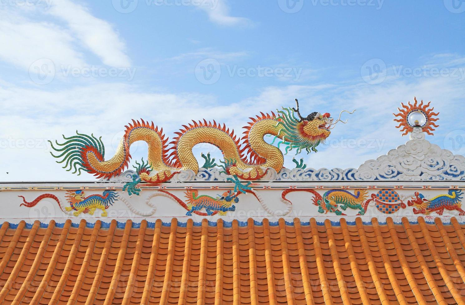 Traditional Chinese style rooftop photo