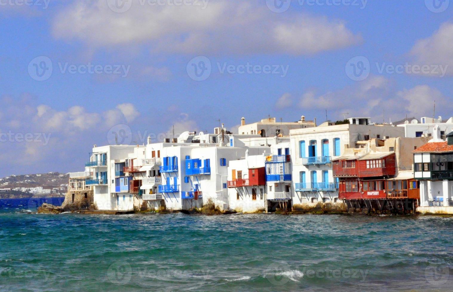 Little Venice, Mykonos island, Greece photo