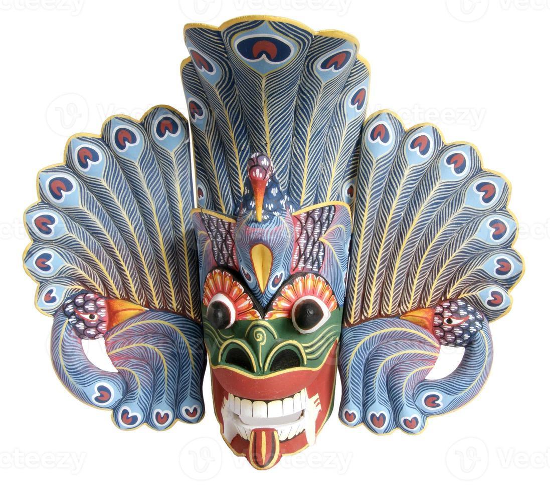 Máscara-recuerdo tradicional indonesio (balinés) foto