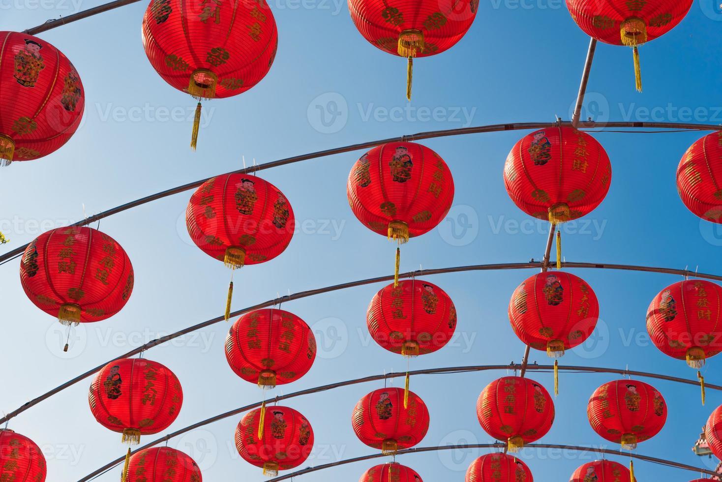 linternas rojas chinas foto