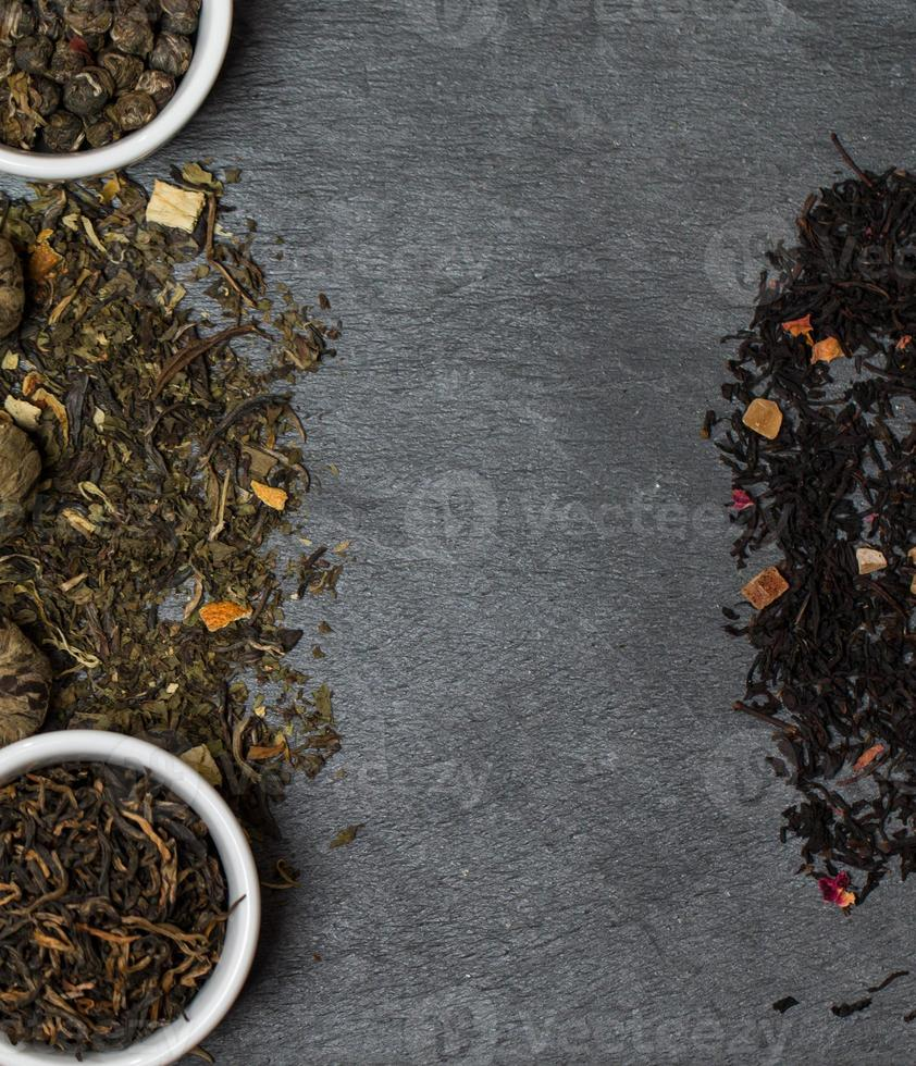 different sorts of tea leaves photo