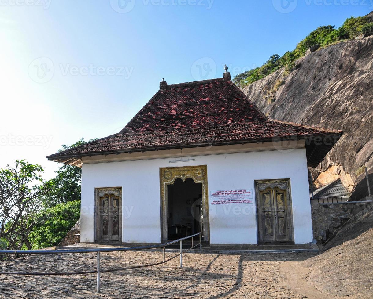 Dambulla cave temple in Sri Lanka photo