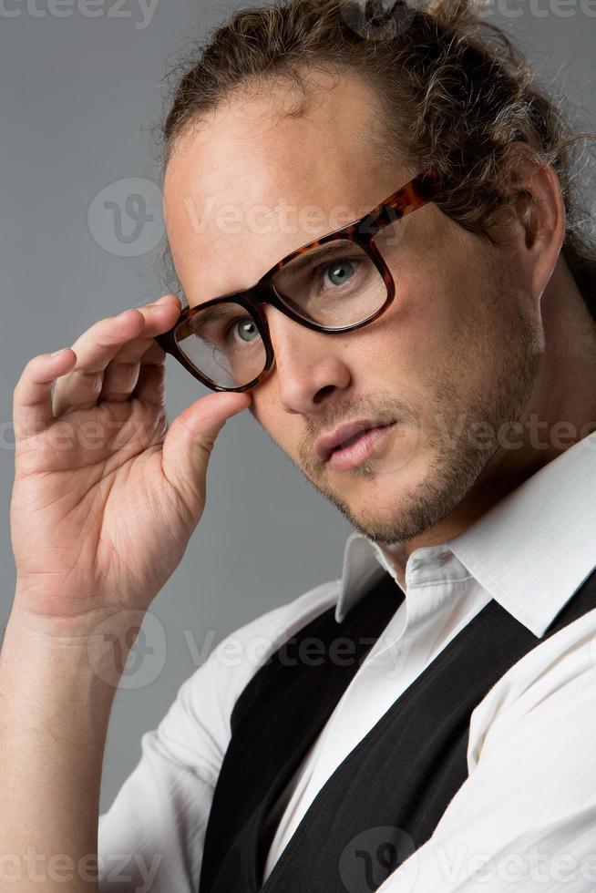 Handsome caucasian man photo