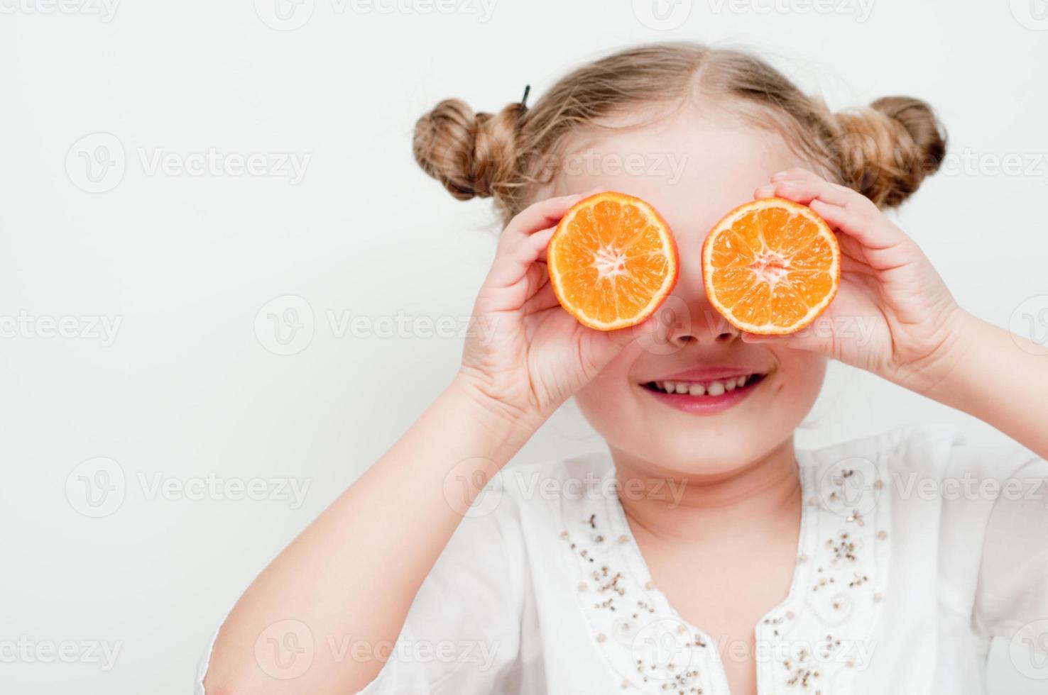 jugosas frutas mandarinas foto