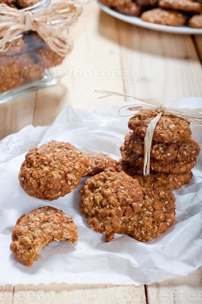 Diet and healthy muesli cookies photo