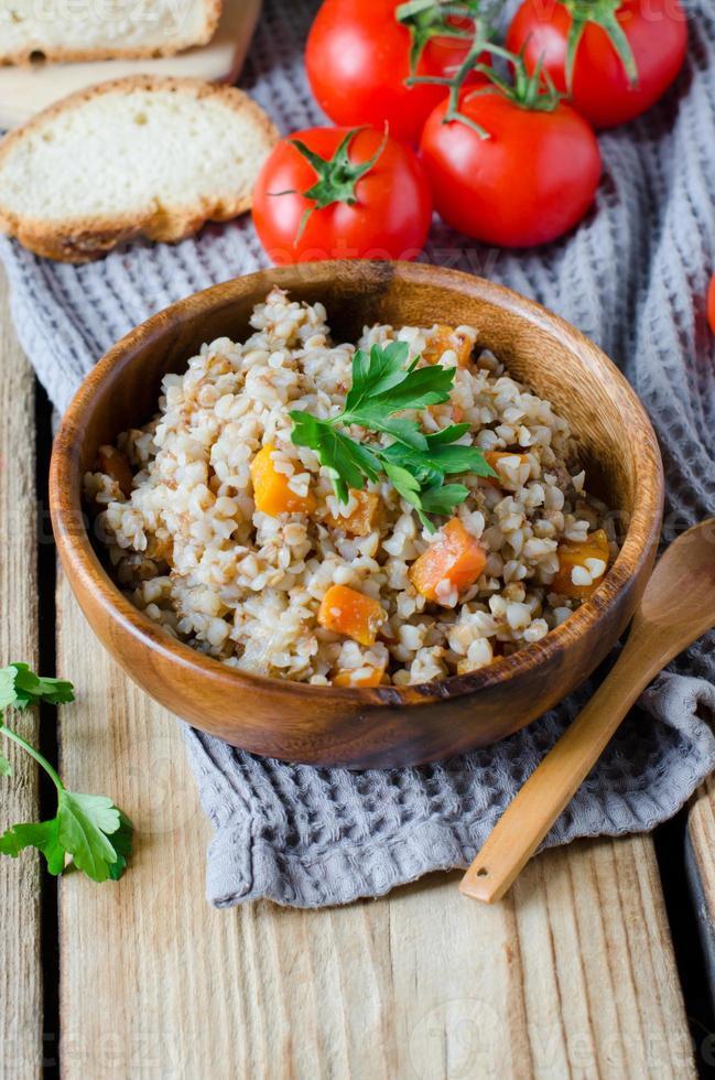 Buckwheat with vegetables photo