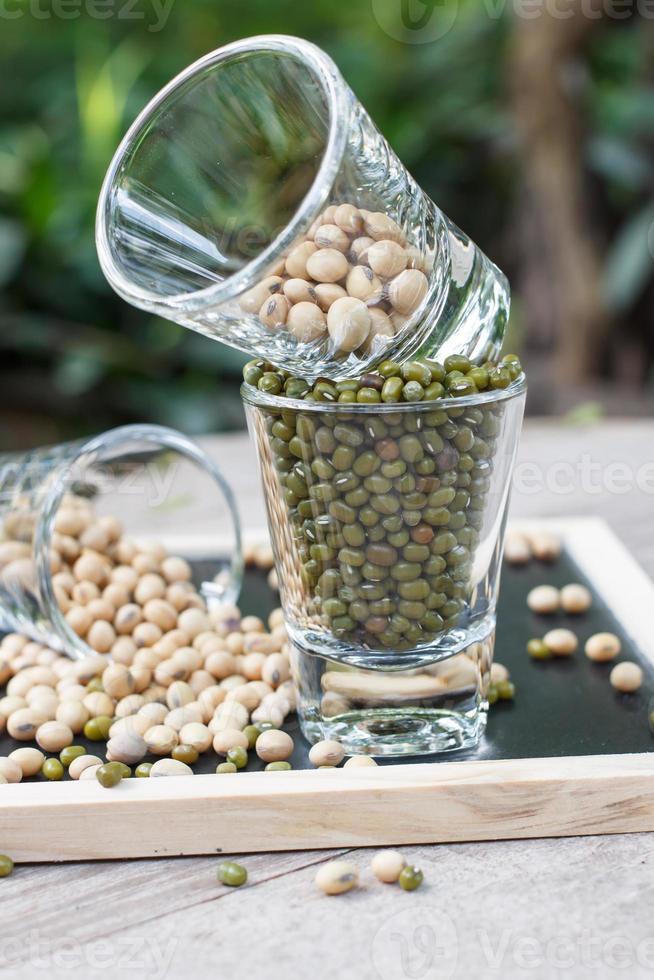 fagiolo di soia e fagiolo verde foto