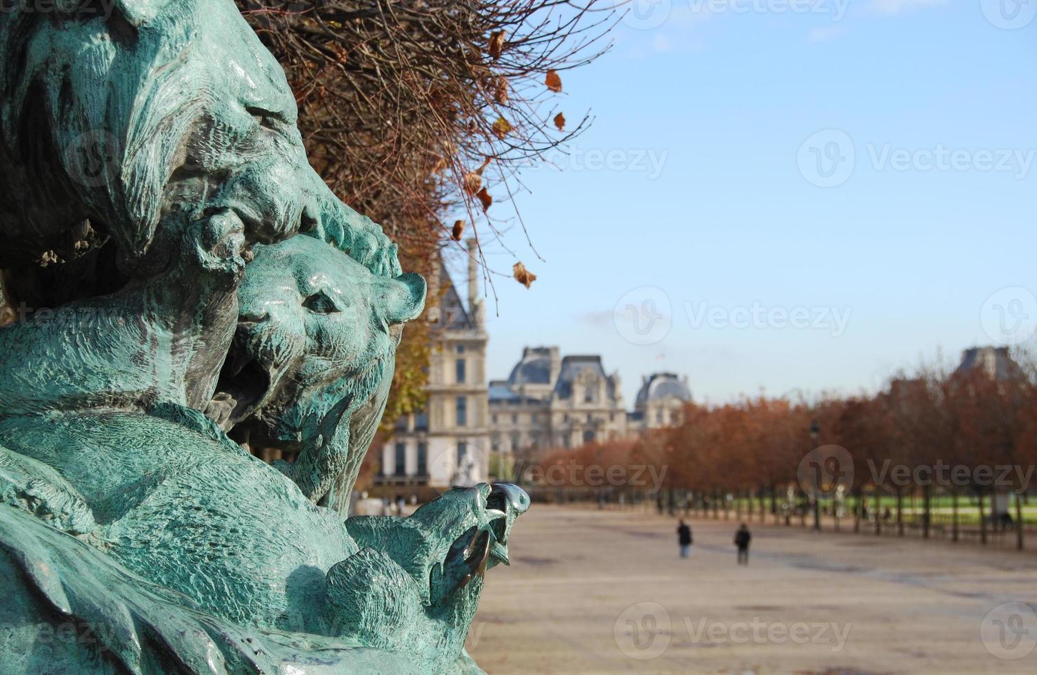 le jardin des tuileries in paris, frankreich foto