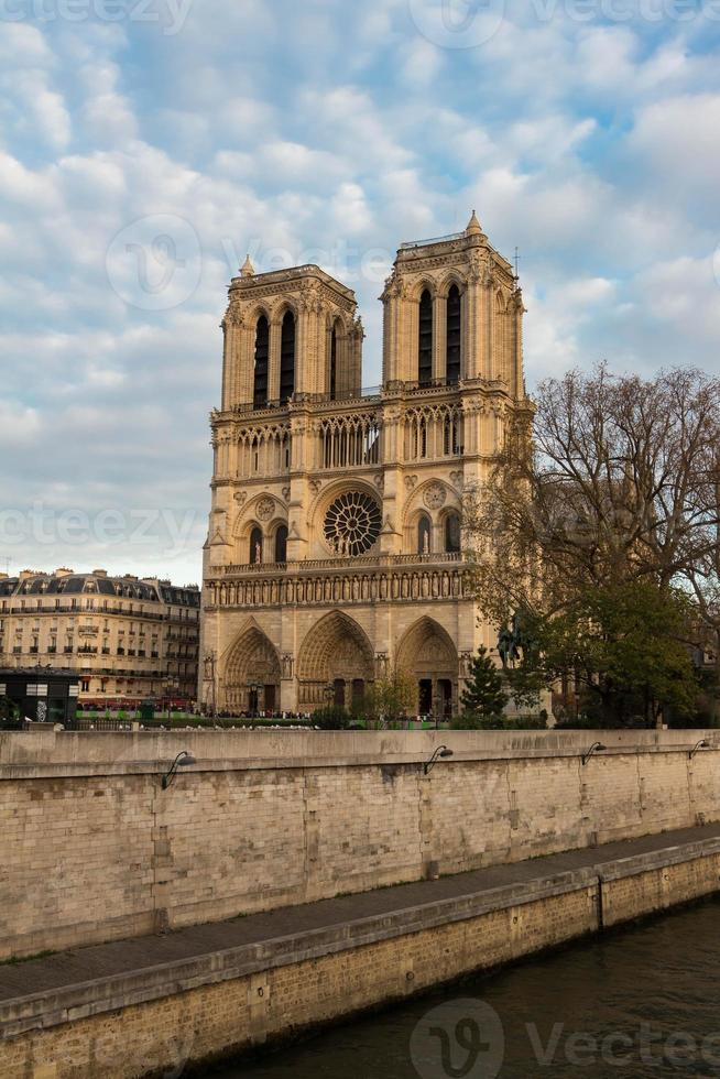 the cathedral Notre Dame, Paris, France. photo