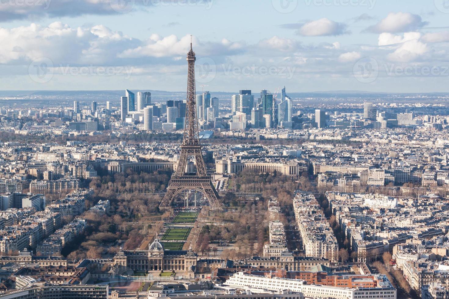 horizonte de París foto