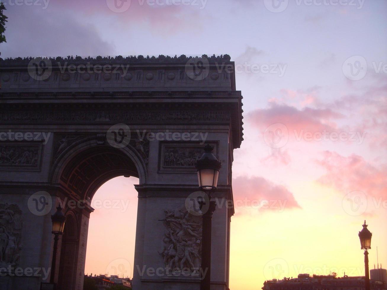 arco del triunfo de l'etoile foto