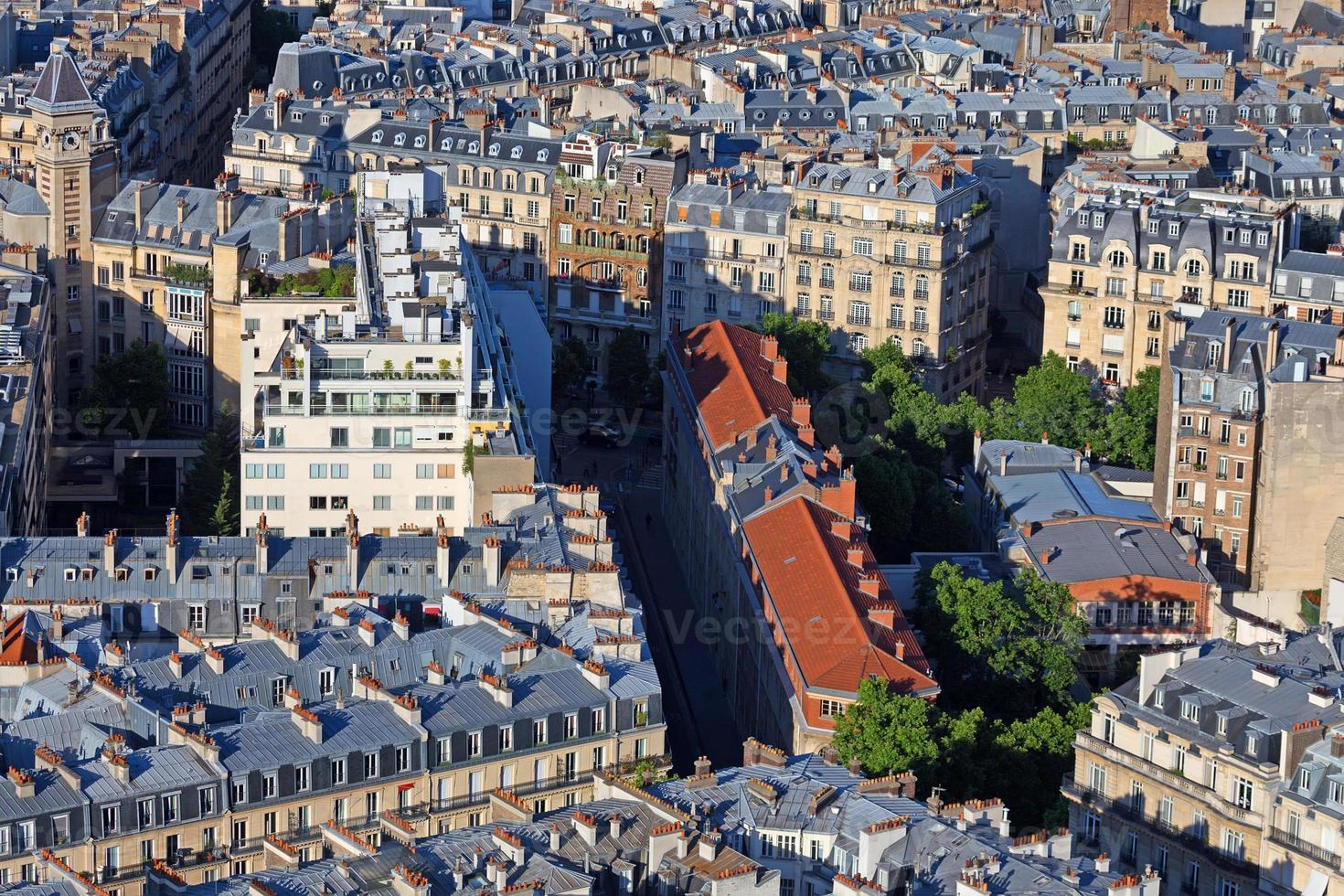 Paris roofs photo