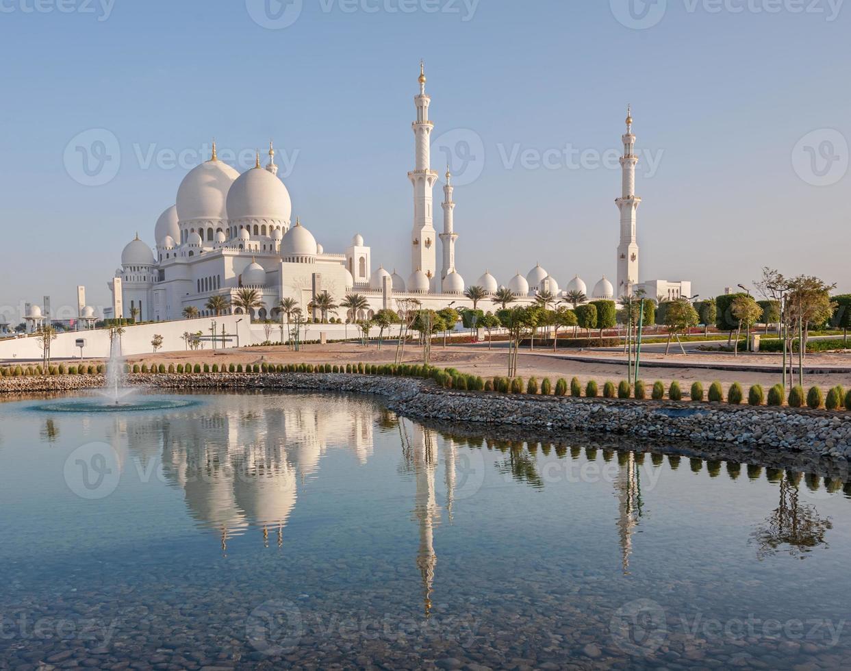 Scheich zayed große Moschee in Abu Dhabi foto