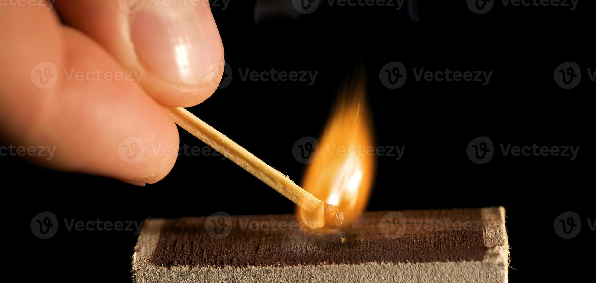 The wooden match photo