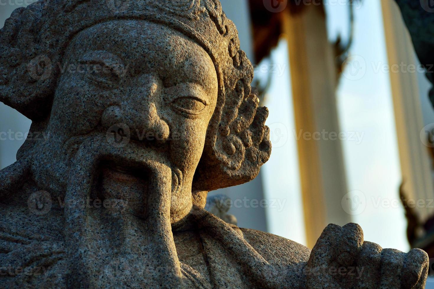 Statue in Sutat temple photo