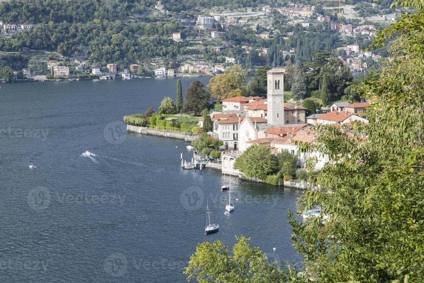 como lago, italia, otoño foto