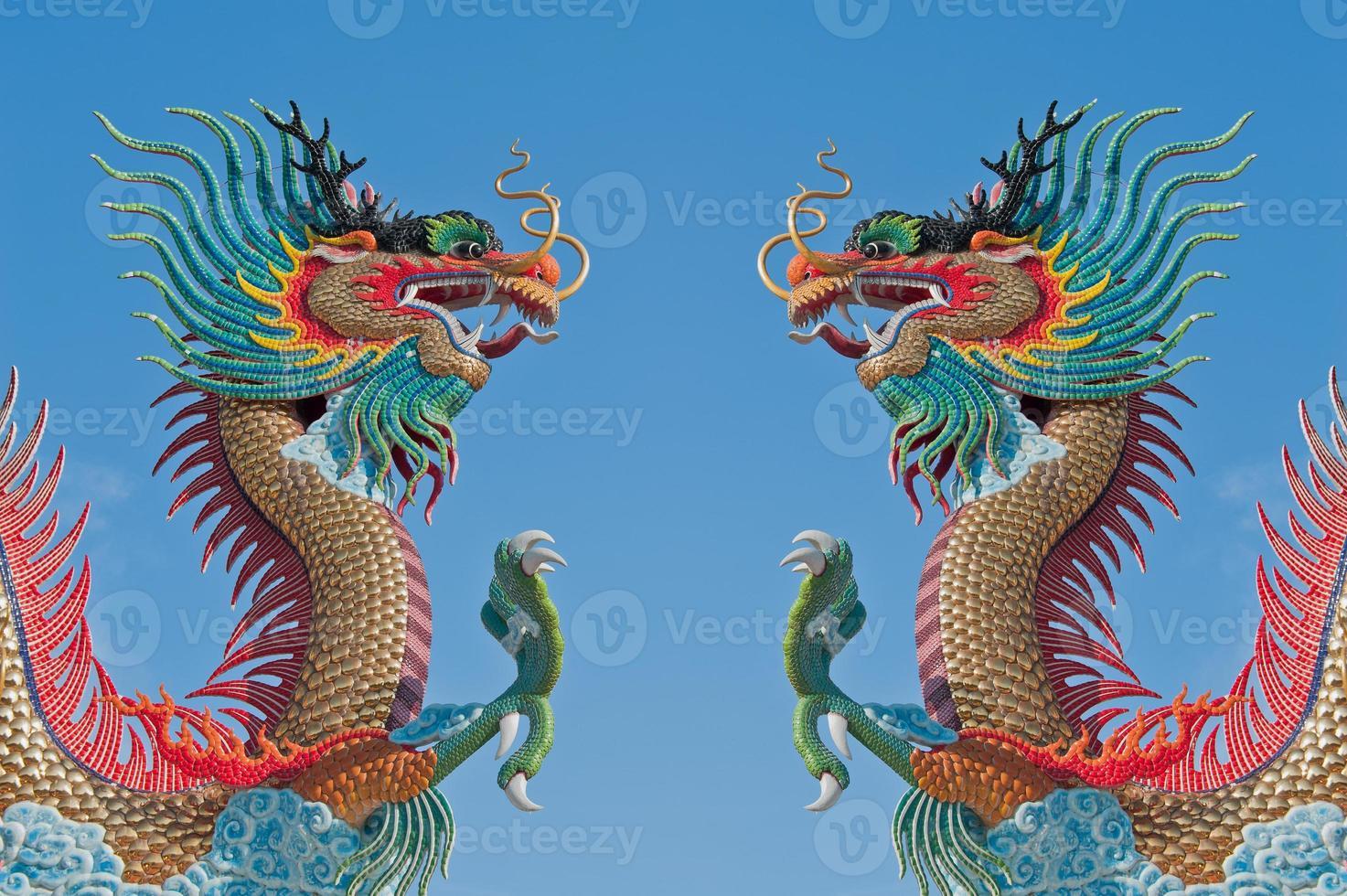 chinesischer Zwillingsdrache. foto