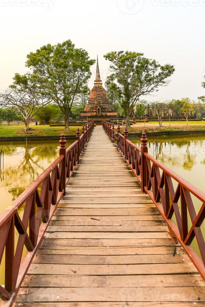 sukhothai historical park the old town of thailand photo