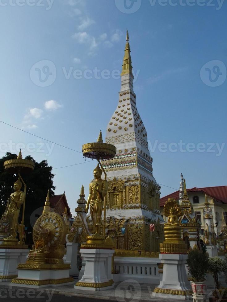 Phra that Nakon pagoda in Nakhon Phanom, Thailand photo
