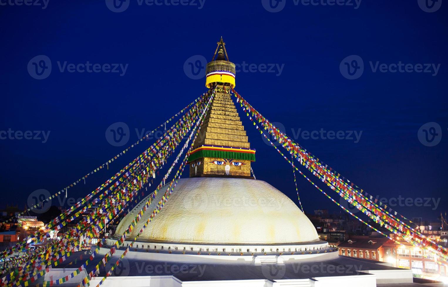 Estupa de Boudhanath en Katmandú, Nepal foto