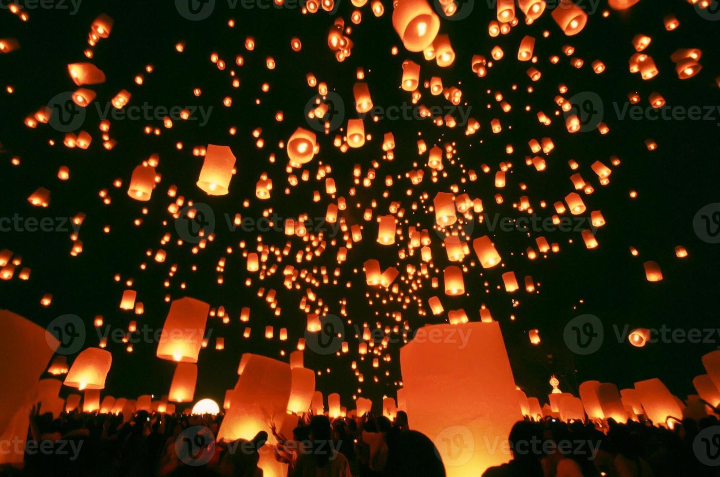 Floating lantern photo