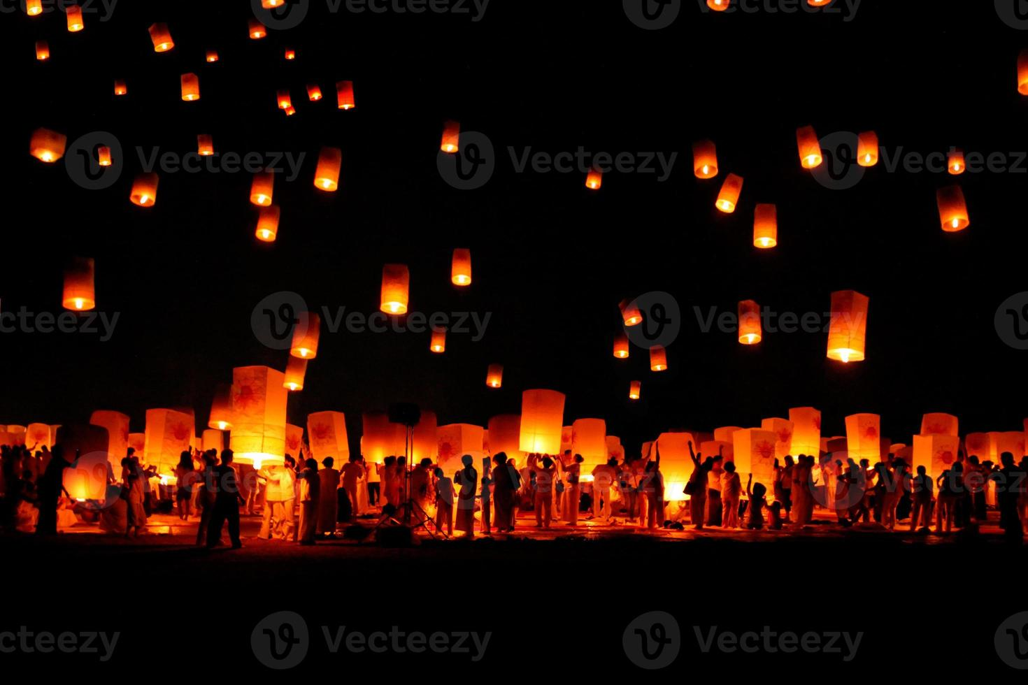 Unfounded  Loy Krathong and Yi Peng lantern festival , in Thailand photo