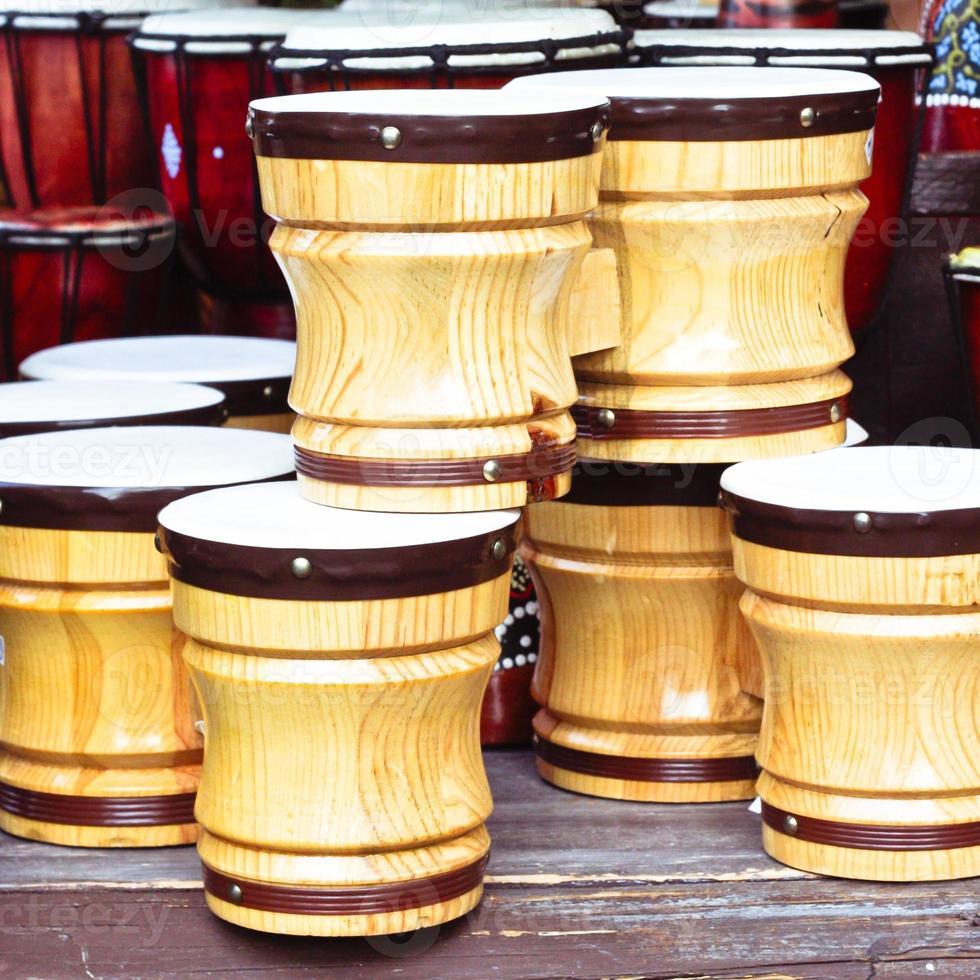 Wooden bongos photo