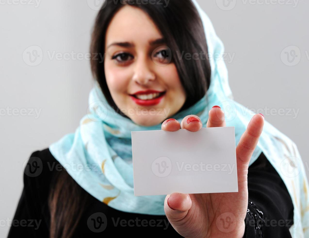 Retrato de mujer del Medio Oriente foto