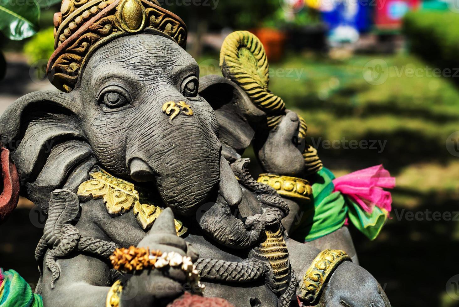 Ganesha made of stone in Thailand photo
