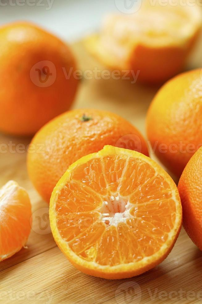 Fresh tangerines photo