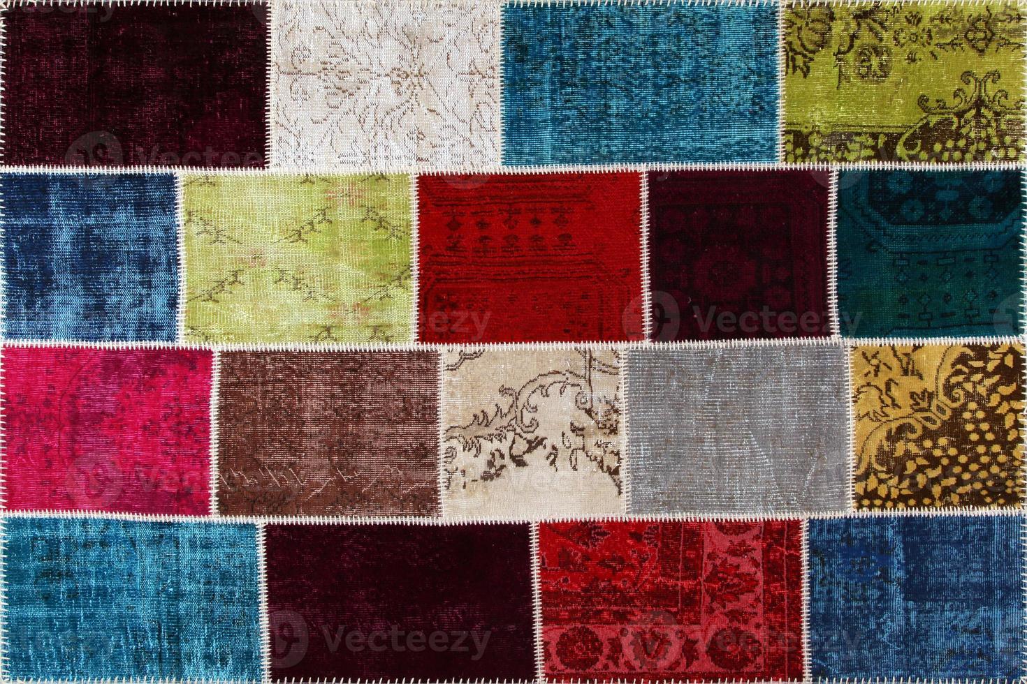 Turkish carpet patch work photo