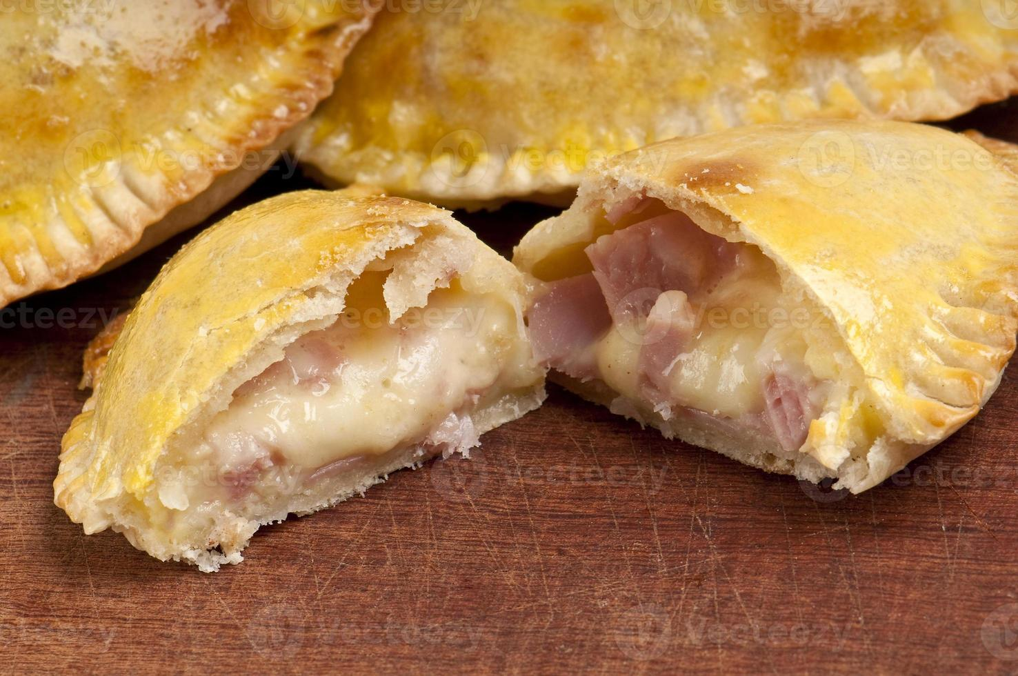 Ham and Cheese Empanada Close Up photo