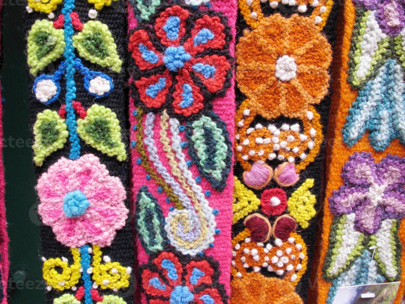telas tejidas indias de américa del sur foto