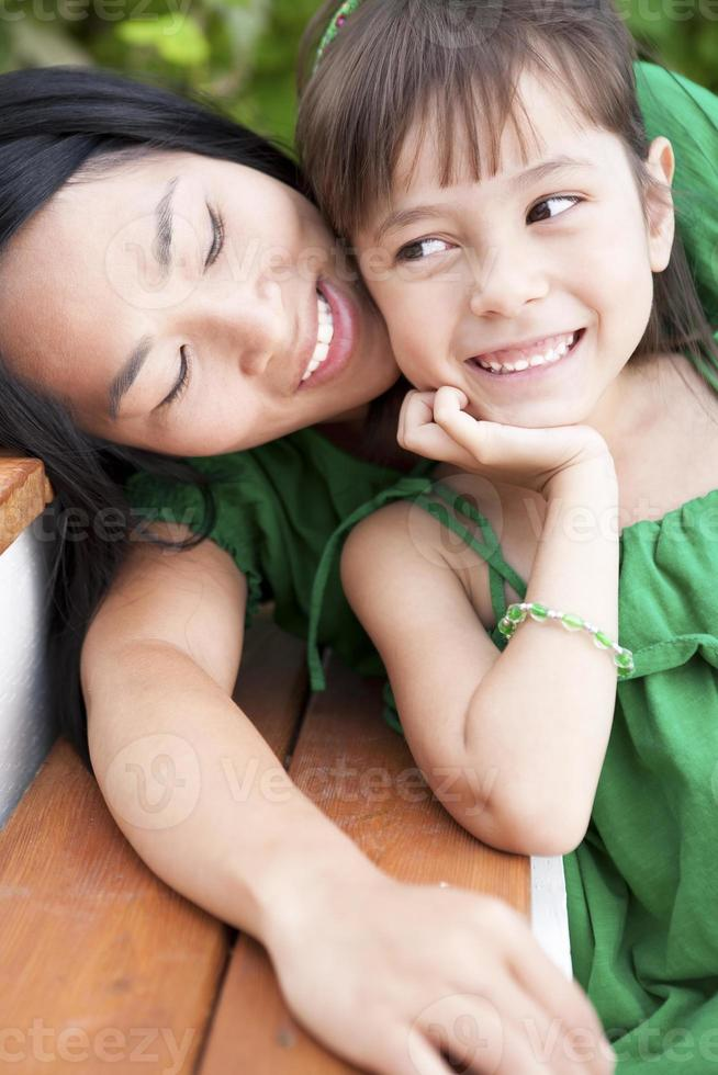 Mother and Daughter summer portrait photo