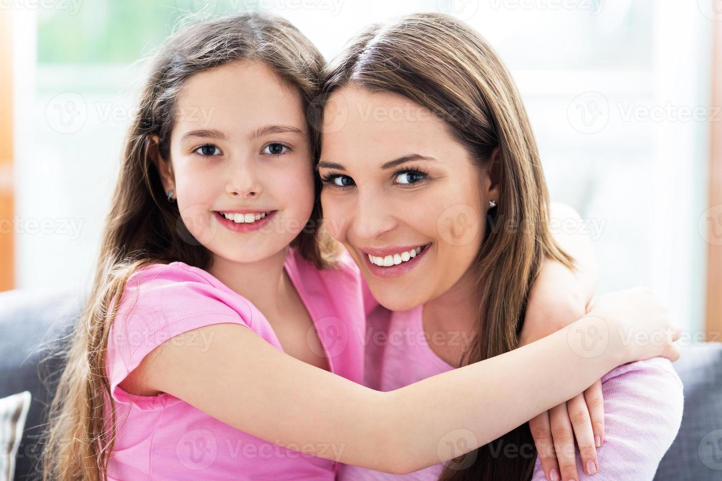 Mother and daughter photo