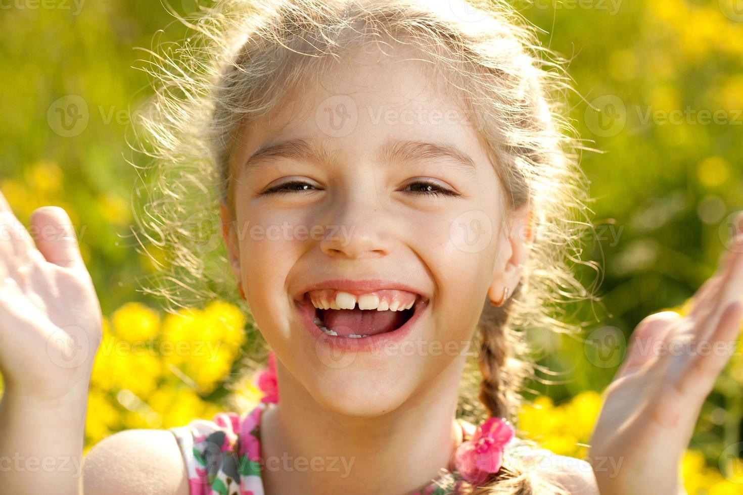 Funny little girl photo