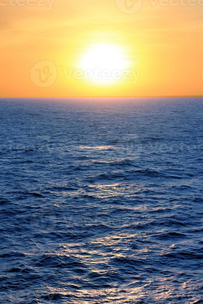 Sunset over the Caribbean photo