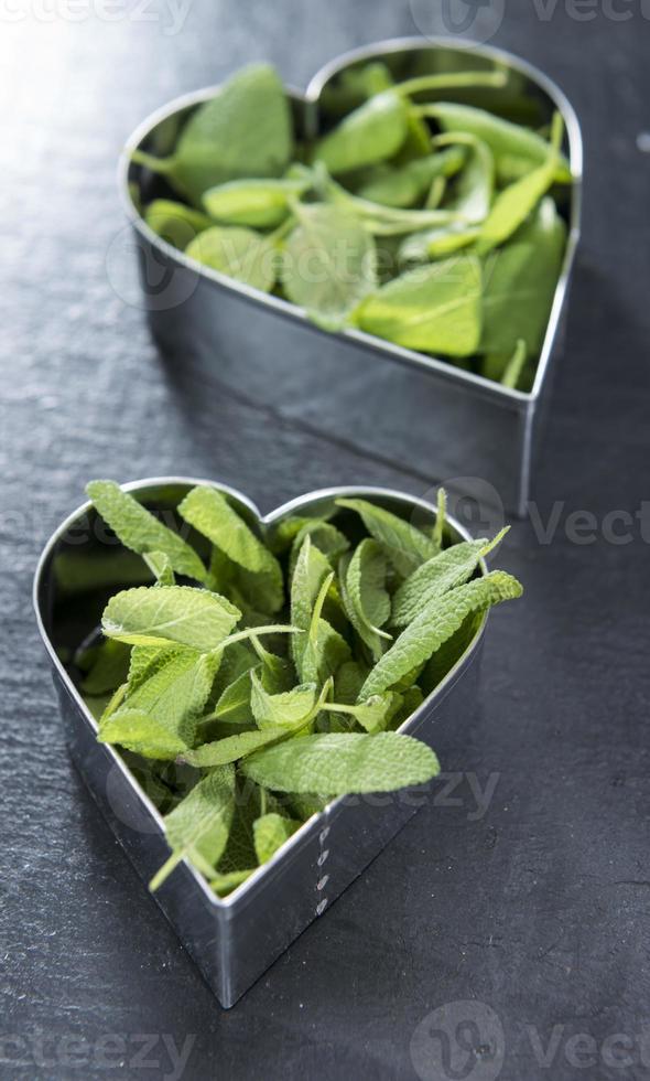 amo las hierbas frescas (conceptual) foto
