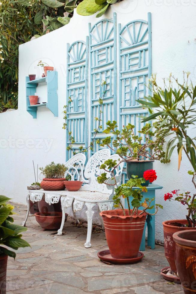 Greek courtyard photo