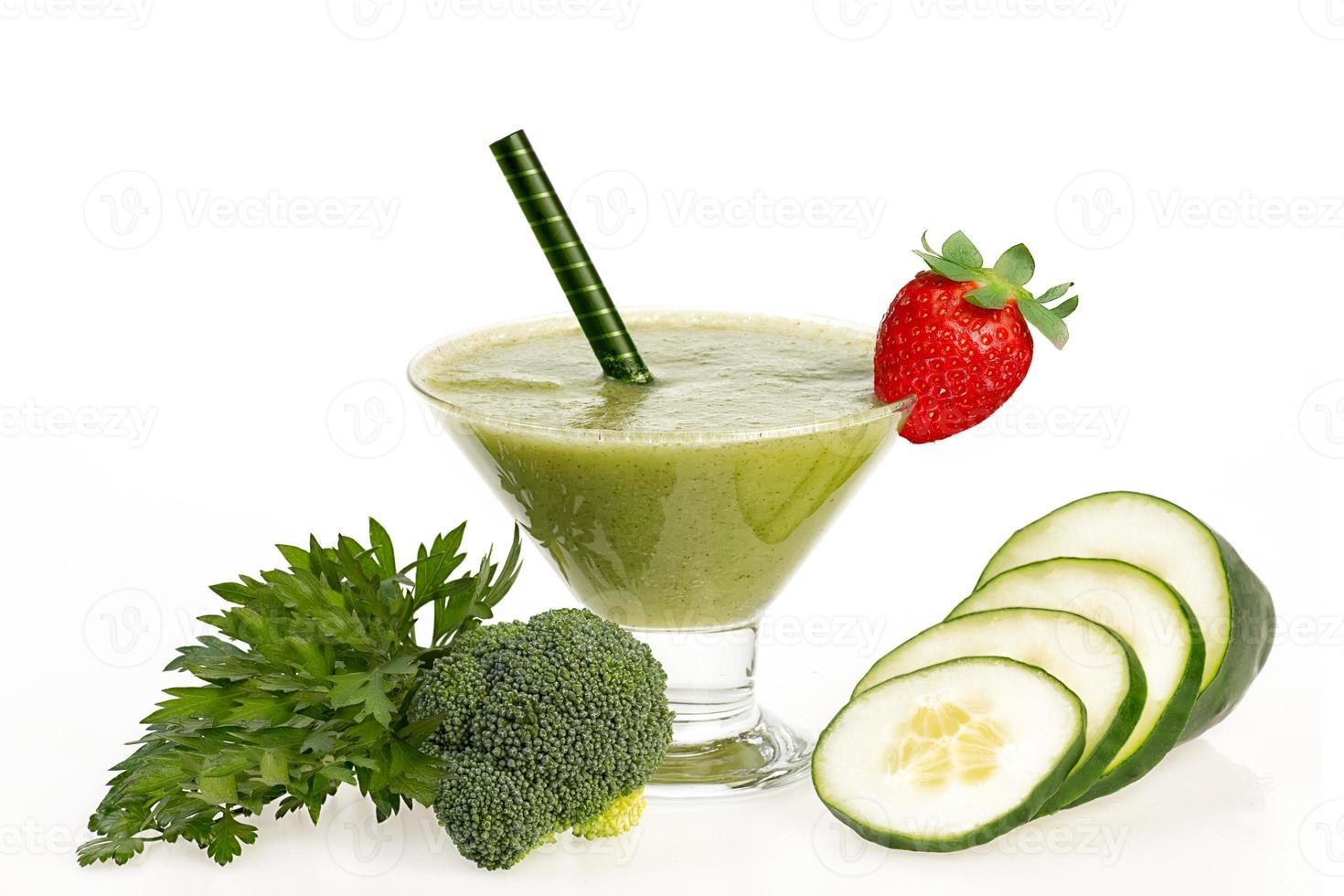 healthy cucumber and broccoli smoothie photo