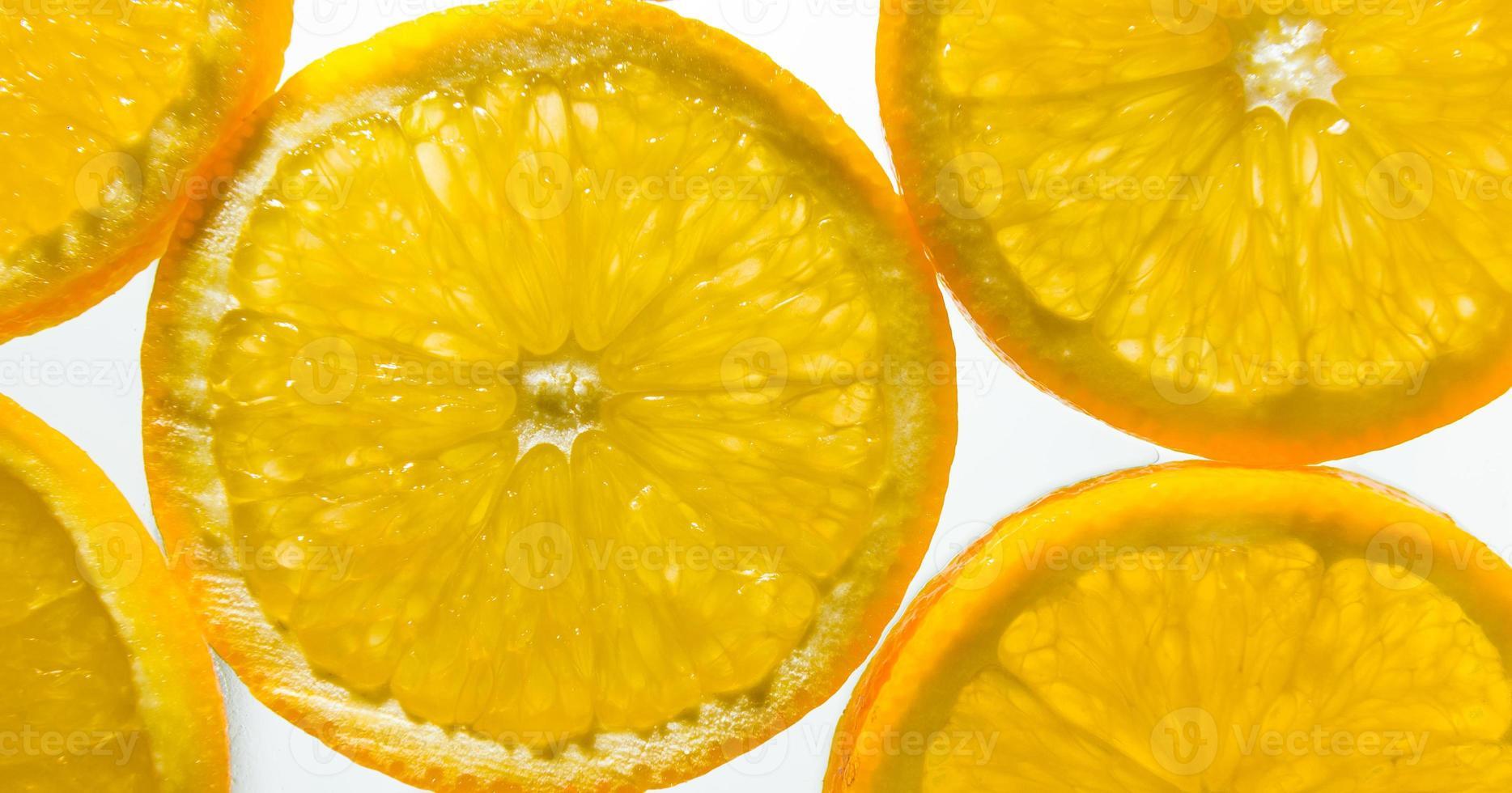Orange slices arranged photo