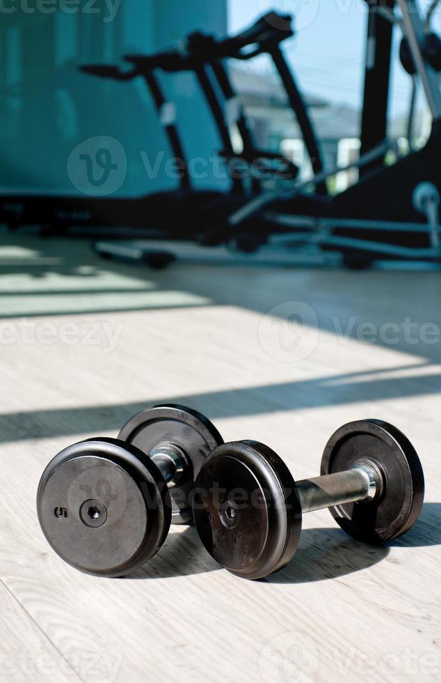 pesas de hierro fundido foto