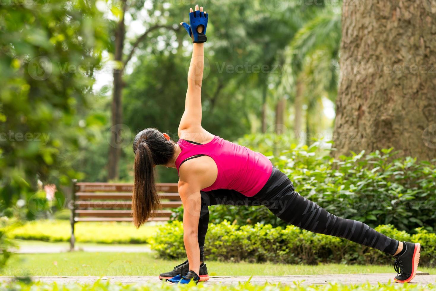 Doing exercises photo