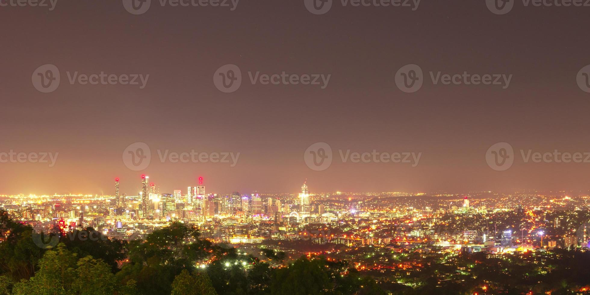 View of Brisbane City from Mount Coot-tha photo