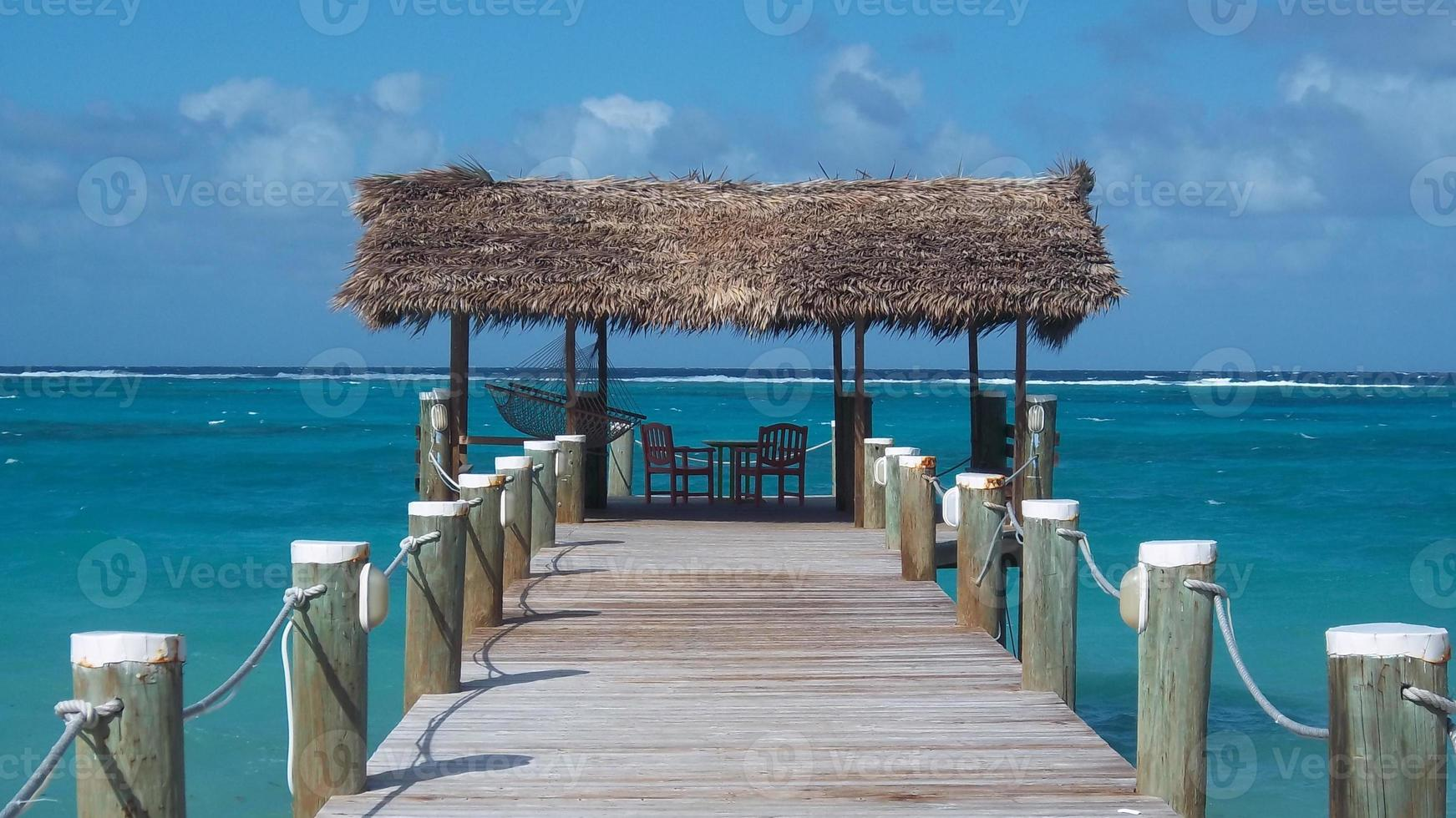 Dock Going out to Caribbean Sea photo